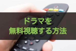 ドラマの動画無料視聴方法